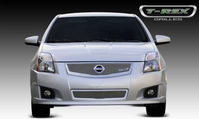 Clearance - Nissan Sentra 2.0 SR, SE-R Upper Class Mesh Grille w/ logo plate, fits vehicles w/ Sport Grille and Sport fascia - Pt # 54765