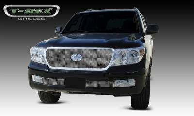 T-REX Grilles - Toyota Landcruiser - Upper Class Replacement - Polished Stainless Mesh Grille - Pt # 54934