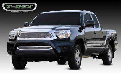 T-REX Grilles - 2012-2015 Tacoma Upper Class Grille, Polished, 1 Pc, Insert - PN #54938