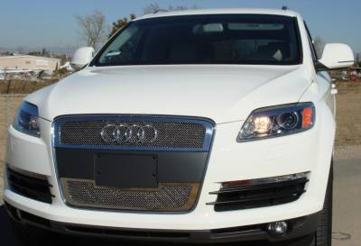 Upper Class Series Grilles - T-REX Grilles - Audi Q7 Upper Class Polished Stainless Mesh Grille - 2 Pc - Pt # 54989