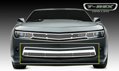 Upper Class Series Grilles - T-REX Chevrolet Camaro V6 Upper Class, Formed Mesh, Bumper Grille, Overlay, 1 Pc, Polished Stainless Steel - Pt # 55031