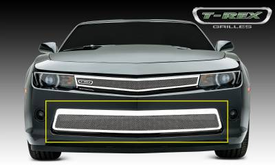 T-REX Grilles - 2014-2015 Camaro Upper Class Bumper Grille, Polished, 1 Pc, Replacement, V6 - PN #55032 - Image 1