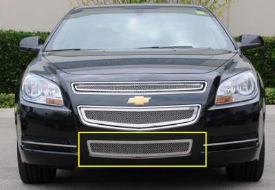 Upper Class Series Grilles - T-REX Chevrolet Malibu Upper Class Polished Stainless Bumper Mesh Grille - Pt # 55168