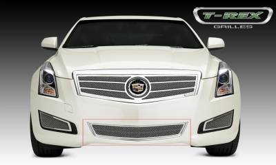 Upper Class Series Grilles - T-REX Cadillac ATS Upper Class Formed Mesh Grille, Center Bumper, Overlay, 1 Pc, Polished Stainless Steel Will not fit Platinum Edition. - Pt # 55177