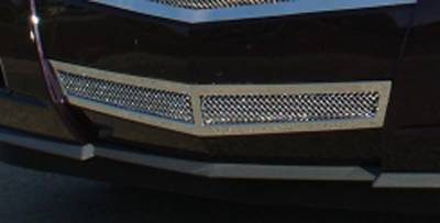 Upper Class Series Grilles - T-REX Cadillac CTS Upper Class Polished Stainless Bumper Mesh Grille - With Formed Mesh Center Center Only - Pt # 55197