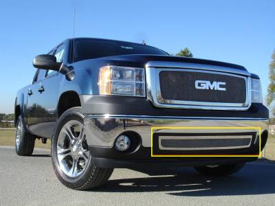 Clearance - GMC Sierra Upper Class Polished Stainless Bumper Mesh Grille - Pt # 55205
