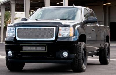 Upper Class Series Grilles - GMC Sierra HD Upper Class Polished Stainless Bumper Mesh Grille - Top steel bumper opening Mesh Only - No Frame - Pt # 55209