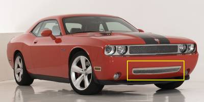 Clearance - T-REX Grilles - Dodge Challenger 2009-2010 Upper Class Polished Stainless Bumper Mesh Grille - With Formed Mesh With Frame - Pt # 55415