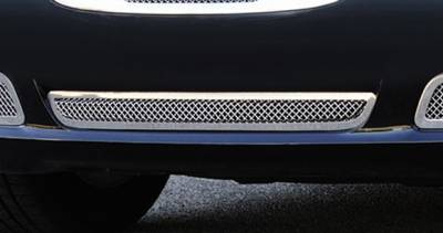 Upper Class Series Grilles - T-REX Grilles - Chrysler 300 Upper Class Polished Stainless Bumper Mesh Grille - with Frame and Formed Mesh Center - Installs into center bumper opening - Pt # 55433