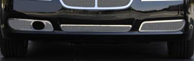 Upper Class Series Grilles - T-REX Grilles - Chrysler 300 with Adaptive Cruise Upper Class Polished Stainless Bumper Mesh Grilles - 2 Pc - Fits vehicles with Adaptive Cruise ONLY - Pt # 55435
