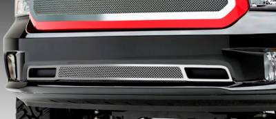 Clearance - T-REX Grilles - Dodge Ram 1500 Upper Class, Formed Mesh Grille, Bumper, Overlay, 1 Pc, Polished Stainless Steel,  Fits only on Express & Sport Models. - Pt # 55458