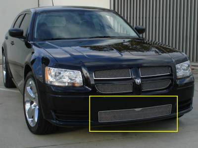 Upper Class Series Grilles - T-REX Grilles - Dodge Magnum Upper Class Polished Stainless Bumper Mesh Grille - Pt # 55462