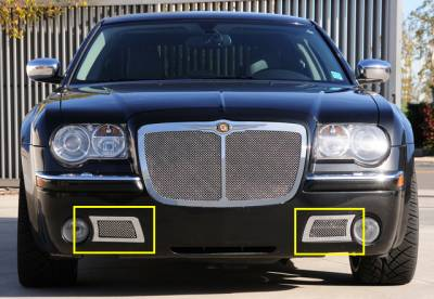 Upper Class Series Grilles - Chrysler 300C Only Upper Class Polished Stainless Bumper Mesh Grille - 300C Only - With Formed Mesh Center - Pt # 55471