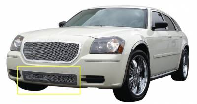 Upper Class Series Grilles - T-REX Grilles - Dodge Magnum Upper Class Polished Stainless Bumper Mesh Grille - Pt # 55473