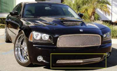 Upper Class Series Grilles - Dodge Charger SRT Upper Class Polished Stainless Bumper Mesh Grille - Pt # 55475