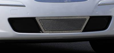 Upper Class Series Grilles - T-REX Grilles - Hyundai Genesis Sedan Upper Class Polished Stainless Bumper Mesh Grille - Center Area Only - With Formed Mesh Center - Pt # 55495