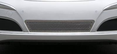 Upper Class Series Grilles - T-REX Grilles - Hyundai Equus Upper Class Polished Stainless Bumper Mesh Grille - With Formed Mesh Center - Pt # 55496