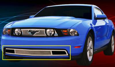 Upper Class Series Grilles - Ford Mustang GT Upper Class Polished Stainless Bumper Mesh Grille - With Formed Mesh Center - Pt # 55519