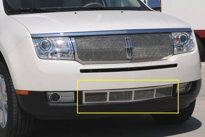 Upper Class Series Grilles - T-REX Grilles - Lincoln MKX Upper Class Polished Stainless Bumper Mesh Grille - Pt # 55717