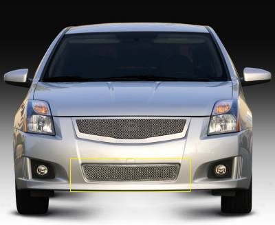 Upper Class Series Grilles - T-REX Grilles - Nissan Sentra 2.0 SR, SE-R Upper Class Polished Stainless Mesh Bumper - Pt # 55764