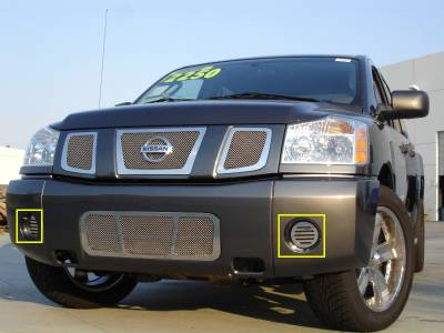 Upper Class Series Grilles - Nissan Titan SS Fog Lamp Grilles - 2 Fog with out factory fogs - Pt # 55781