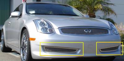 Upper Class Series Grilles - Infiniti G-35 Coupe SPORT EDITION Upper Class Polished Stainless Bumper Mesh Grille - 2 Pc Except road sensing cruise - Pt # 55794