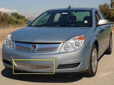 Upper Class Series Grilles - Saturn Aura Upper Class Polished Stainless Bumper Mesh Grille - Pt # 55807