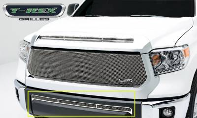 Upper Class Series Grilles - T-REX Toyota Tundra  Upper Class, Formed Mesh, Bumper Grille, Overlay, 1 Pc, Polished Stainless Steel - Pt # 55964
