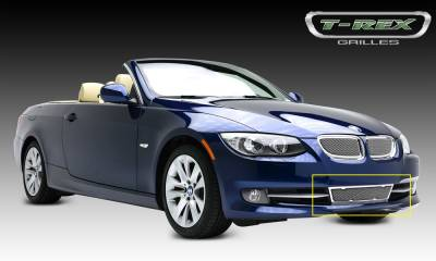Upper Class Series Grilles - T-REX Grilles - BMW 3 Series Coupe Upper Class Polished Bumper Grille - Pt # 55985