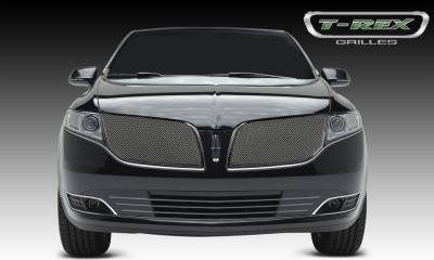Upper Class Series Grilles - T-REX Grilles - Lincoln MKT Upper Class, Formed Mesh Grille, Main, Overlay, 2 Pcs, Chromed Stainless Steel - Pt # 56719