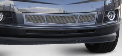 Upper Class Series Grilles - T-REX Cadillac SRX Upper Class Mesh Bumper Grille - Overlay - 3 Window Design - Chrome - Pt # 57187