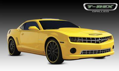 T-REX Grilles - Chevrolet Camaro ALL Custom Classic Stainless Grille OE Bowtie is retained - Pt # 66027