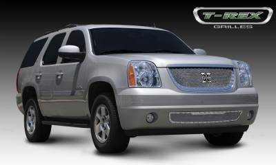 X-Metal Series Grilles - T-REX GMC Yukon X-METAL Series - Studded Main Grille - Polished SS - Pt # 6711710