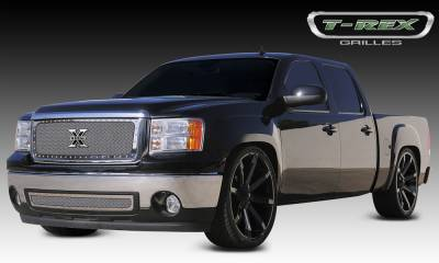 X-Metal Series Grilles - T-REX GMC Sierra X-METAL Series - Studded Main Grille - Polished SS - Pt # 6712050