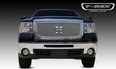X-Metal Series Grilles - T-REX Grilles - GMC Sierra HD X-METAL Series - Studded Main Grille - Polished SS - Pt # 6712060