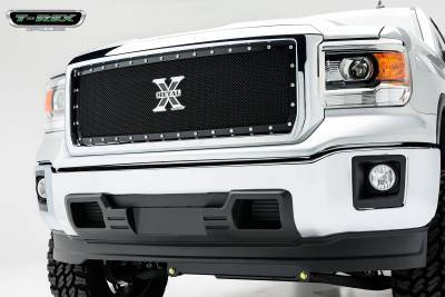 X-Metal Series Grilles - T-REX Grilles - GMC Sierra X-Metal, Formed Mesh Grille, Main, Insert, 1 Pc, Black - Pt # 6712081