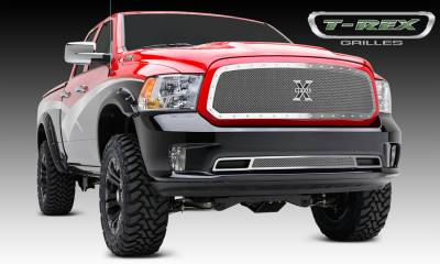 X-Metal Series Grilles - Dodge Ram 1500 X-Metal, Formed Mesh Grille, Main, Full Opening Requires Cutting Factory Cross Bar in OEM Grille,  Insert, 1 Pc, Polished Stainless Steel - Pt # 6714580