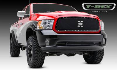 X-Metal Series Grilles - T-REX Grilles - Dodge Ram 1500 X-Metal, Formed Mesh Grille, Main, Full Opening Requires Cutting Factory Cross Bar in OEM Grille,  Insert, 1 Pc - Pt # 6714581
