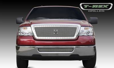 T-REX Grilles - 2004-2008 F-150, 05-08 Mark LT X-Metal Grille, Polished, 1 Pc, Insert, Chrome Studs - PN #6715560