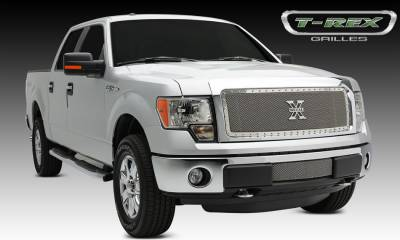 T-REX Grilles - 2013-2014 F-150 X-Metal Grille, Polished, 1 Pc, Insert, Chrome Studs - PN #6715720