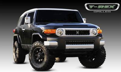 T-REX Grilles - Toyota FJ Cruiser X-METAL Series - Studded Main Grille - ALL Black - Pt # 6719321