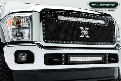 "Torch Series Grilles - T-REX Ford Super Duty TORCH Series LED Light Grille  1 - 30"" LED Bar For off-road use only - Pt # 6315461"