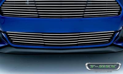 T-REX Grilles - 2015-2017 Mustang GT Laser Billet Bumper Grille, Polished, 1 Pc, Overlay - PN #6225300 - Image 2