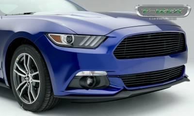 T-REX Grilles - 2015-2017 Mustang GT Laser Billet Bumper Grille, Black, 1 Pc, Overlay - PN #6225301 - Image 3