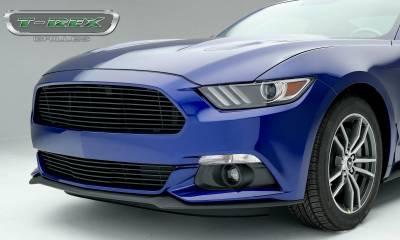 Laser Billet Grilles - Ford Mustang GT - Laser Billet Grille - Bumper, Overlay with Flat Black Powder Coated Finish - Pt # 6225301