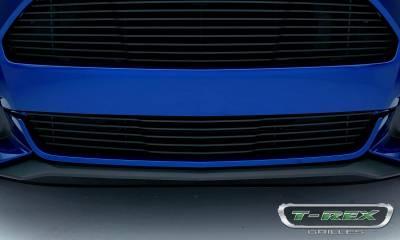 T-REX Grilles - 2015-2017 Mustang GT Laser Billet Bumper Grille, Black, 1 Pc, Overlay - PN #6225301 - Image 2
