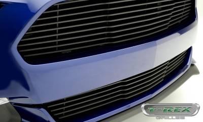 T-REX Grilles - 2015-2017 Mustang GT Laser Billet Bumper Grille, Black, 1 Pc, Overlay - PN #6225301 - Image 4
