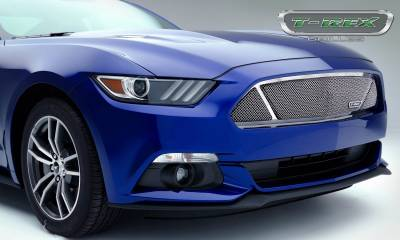T-REX Grilles - 2015-2017 Mustang GT Upper Class Grille, Polished, 1 Pc, Overlay - PN #54529 - Image 3