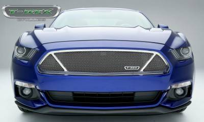 T-REX Grilles - 2015-2017 Mustang GT Upper Class Grille, Polished, 1 Pc, Overlay - PN #54529 - Image 2