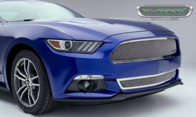 T-REX Grilles - 2015-2017 Mustang GT Upper Class Bumper Grille, Polished, 1 Pc, Overlay - PN #55530 - Image 2